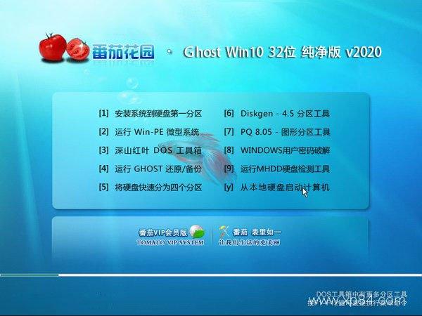 番茄花园 Ghost Win10 32位 纯净版 v2020.01